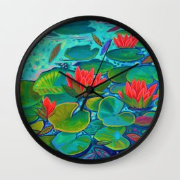 The Lilly Pad Life Wall Clock