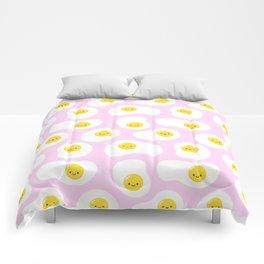 Cute Fried Eggs Pattern Comforters