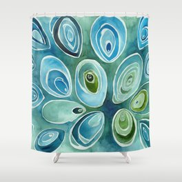 Blue Oyster Shower Curtain
