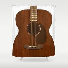 Acoustic Guitar Art Shower Curtain