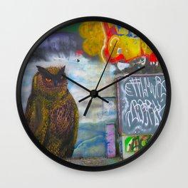 Norvegian owl Wall Clock