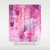 icecream Shower Curtains featuring Blueberry icecream by ilyianne