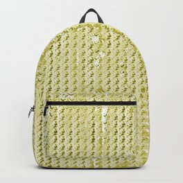Wash Out Faux Burlap- Wheat Backpack