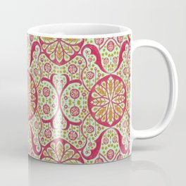 Poppy Pods, Mint, Red and Marigold Coffee Mug