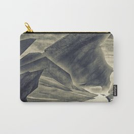 Jagged Rock Landscape | Environmental Video Game Concept Design Carry-All Pouch