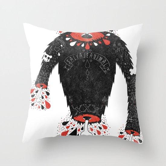 SALVAJEANIMAL headless II Throw Pillow