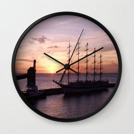 Clipper Sunset  Wall Clock