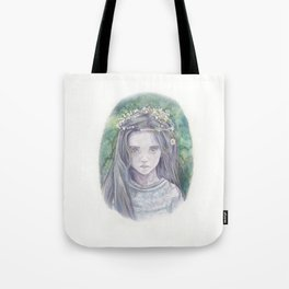 Girl by the lake Tote Bag