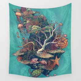 Coral Communities Wall Tapestry