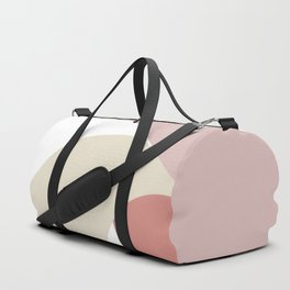 Earth tones abstract geometric design Duffle Bag