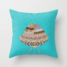 My Spaceship Will Come Throw Pillow