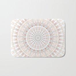 Beige White Mandala Bath Mat