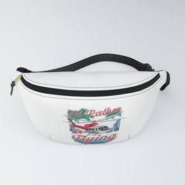 I'd Rather Be Flying Helicopter Pilot Aviation Fanny Pack