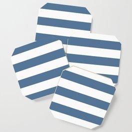 Blue and White Stripes Coaster