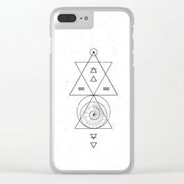 Espiral Triangle White Clear iPhone Case