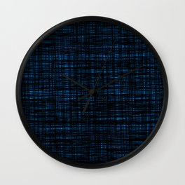 platno (black and blue) Wall Clock