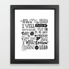Where You Lead | Gilmore Girls Framed Art Print