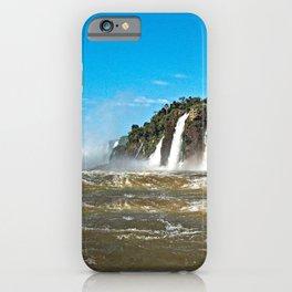Iguazu Iguassu Waterfall Landscape Panorama Scenery, Brazil Argentina 13 iPhone Case
