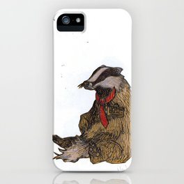 Badger with a Badge iPhone Case