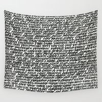 word Wall Tapestries featuring Word by Abstractink82