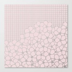 Forget Me Knot Pink Grid Canvas Print