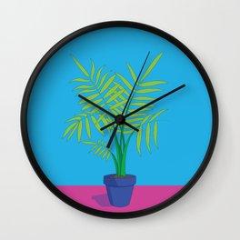 Palm Pot Wall Clock