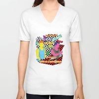 battlefield V-neck T-shirts featuring Love is a battlefield by JetProArt