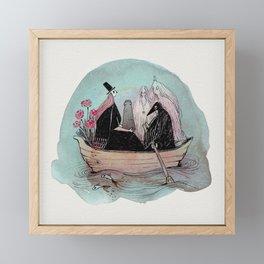 Funeral Boat Framed Mini Art Print