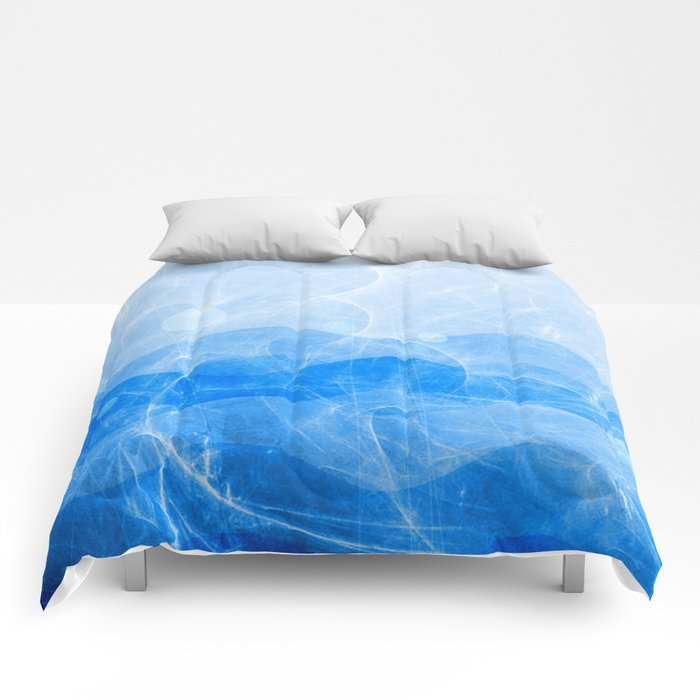 Energy Waves - Blue Version Comforters