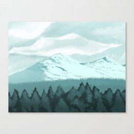 Icy Mountain Speedpaint Canvas Print