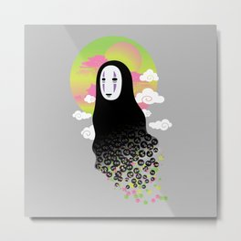 No Face and Soot Sprites Metal Print