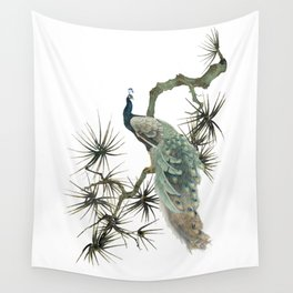 Turquoise Peacock Wall Tapestry