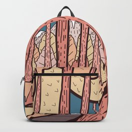 An autumn forest walk  Backpack