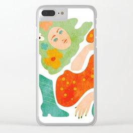 a woman's dream Clear iPhone Case