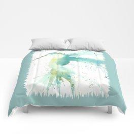 Blue Hummingbird Comforters