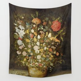 Jan Brueghel (I) (atelier) - Still life with flowers (1600-1630) Wall Tapestry