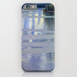 Akseli Gallen-Kallela - Lake Keitele - Digital Remastered Edition iPhone Case