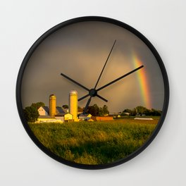 1469 - Rainbow without rain Wall Clock