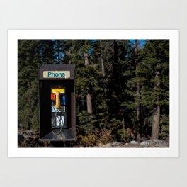 no cell phones allowed Art Print