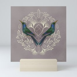 Endurance Crystal Grid in Mauve Mini Art Print