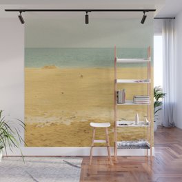 one gull on yellow sands Wall Mural