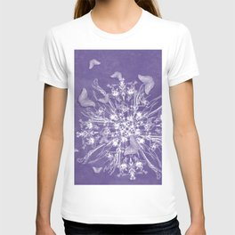 ghost bouquet and butterflies T-shirt