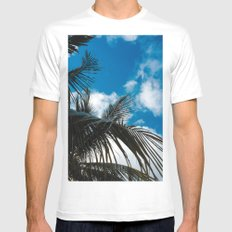 Sky behind the trees MEDIUM White Mens Fitted Tee