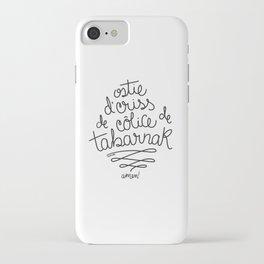 Sacres Québec - Black iPhone Case