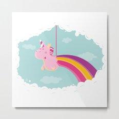 Licorne Piñata Metal Print