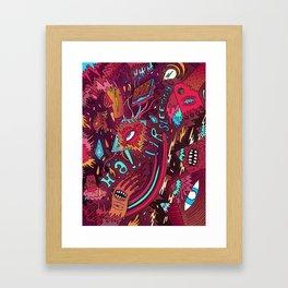 mash and sleep Framed Art Print