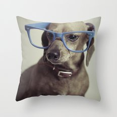 Dogs think they're sooo smart... Throw Pillow