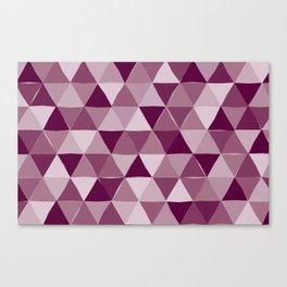 Purple Triangles Canvas Print