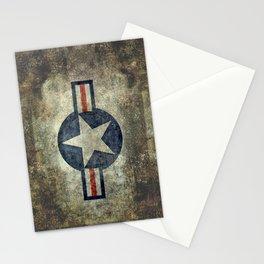 USAF vintage retro roundel #2 Stationery Cards