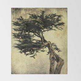 Cypress Tree Throw Blanket